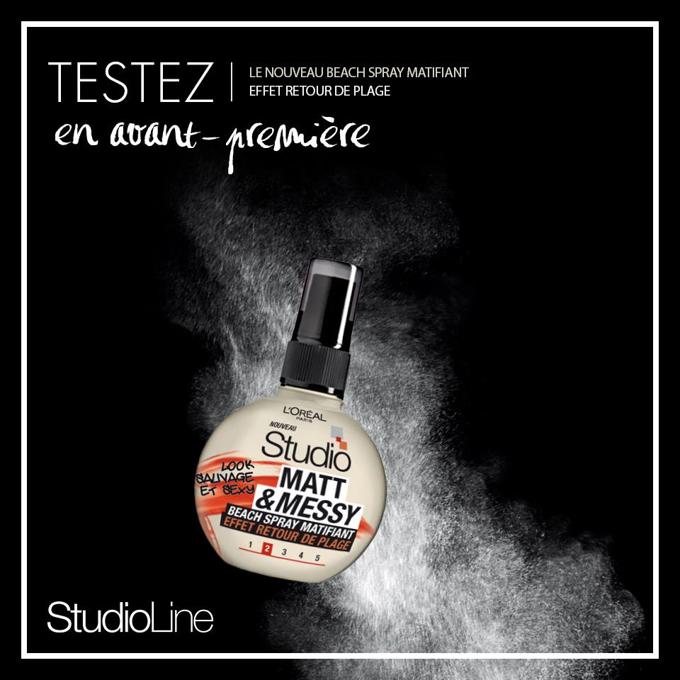 Échantillons StudioLine : Echantillon Beach Spray Matifiant Matt & Messy